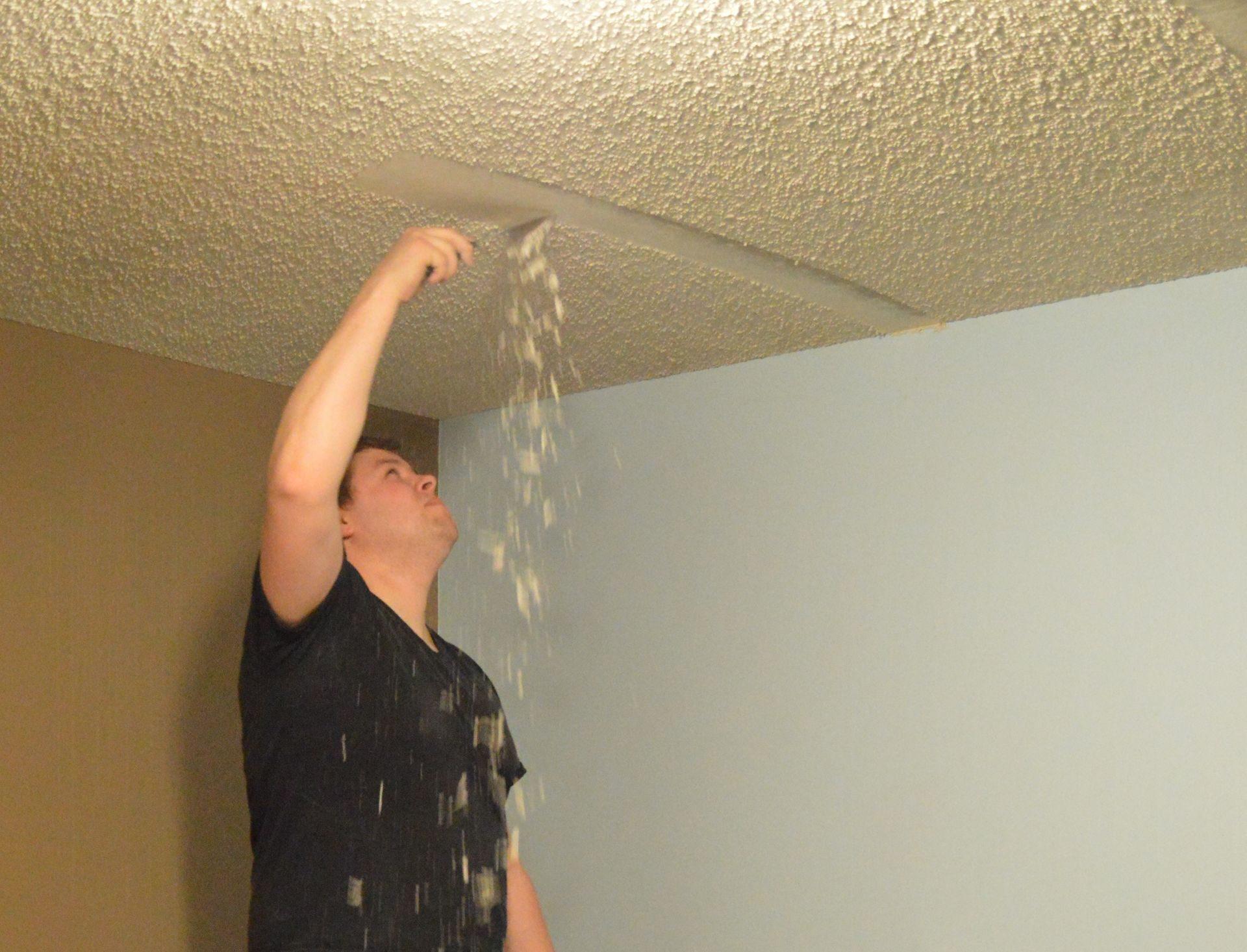 Как сделать фактурный потолок своими руками